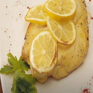 Pollo al limón en freidora sin aceite