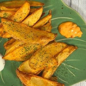 Receta de patatas gajo en freidora de aire caliente