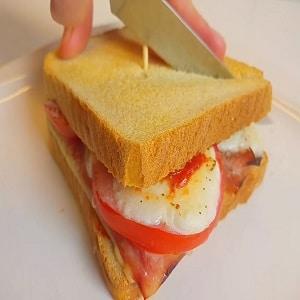 Sandwich de Mozzarella en Freidora sin Aceite