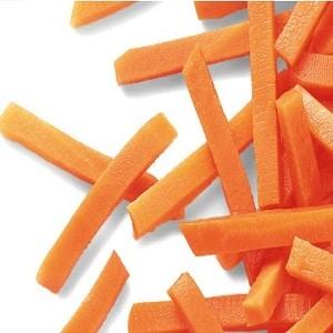 Zanahorias freidora sin aceite